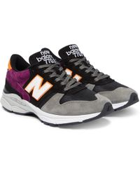New Balance - 770.9 Suede, Leather And Mesh Trainers - Lyst