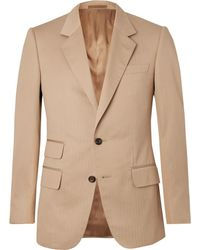 Kingsman - Eggsy's Beige Herringbone Cotton Suit Jacket - Lyst