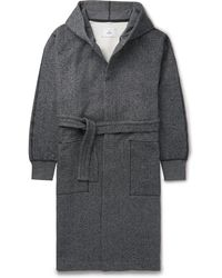 Reigning Champ - Fleece-back Cotton-jersey Hooded Robe - Lyst