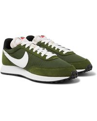 Nike Air Tailwind 79 Shell, Suede And Leather Trainers - Green