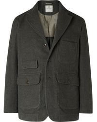 Snow Peak Herringbone Tweed Blazer - Green