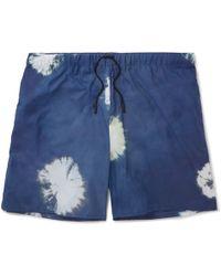 Acne Studios Perry D Mid-length Printed Swim Shorts - Blue