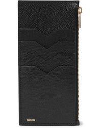 Valextra - Full-grain Leather Zipped Cardholder - Lyst