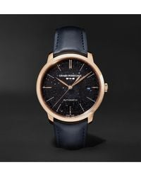 Girard-Perregaux 1996 Orion Automatic 40mm Rose Gold And Leather Watch - Black