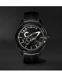 Ulysse Nardin Freak X Ti Automatic 43mm Titanium And Leather Watch - Black