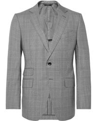Tom Ford - O'connor Slim-fit Prince Of Wales Checked Wool Suit Jacket - Lyst