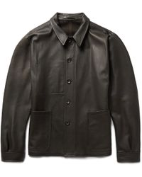 CONNOLLY Full-grain Leather Jacket - Brown