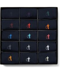 London Sock Company - The Solid Sartorial 15-pack Ribbed Stretch Cotton-blend Socks - Lyst