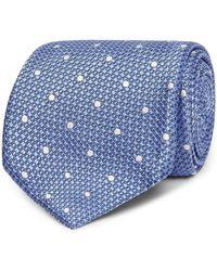 Tom Ford 8cm Pin-dot Silk-jacquard Tie - Blue