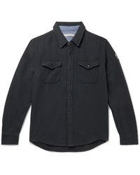 Outerknown Blanket Appliquéd Organic Cotton-twill Overshirt - Black