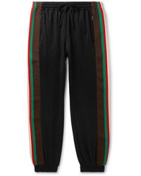 Gucci Webbing-trimmed Tech-jersey Track Trousers - Black