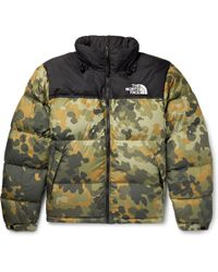 The North Face - 1996 Retro Nuptse Quilted Camouflage-print Shell Down Jacket - Lyst