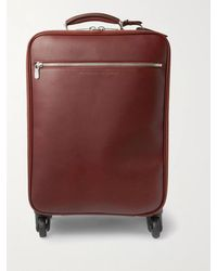 Brunello Cucinelli Leather Carry-on Suitcase - Brown