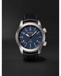 Bremont Mbii Blue Automatic 43mm Stainless Steel And Leather Watch