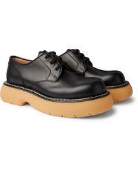 Bottega Veneta The Bounce Leather Derby Shoes - Black