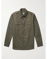 Monitaly Cotton Oxford Shirt - Green
