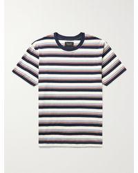 Howlin' Striped Cotton-jersey T-shirt - Blue