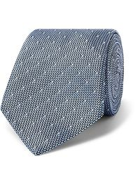 Richard James 7.5cm Silk-jacquard Tie - Blue