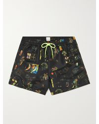 Paul Smith Mid-length Printed Swim Shorts - Black