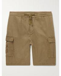 Officine Generale Jay Garment-dyed Lyocell Drawstring Shorts - Green