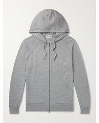 John Smedley Reservoir Merino Wool Zip-up Hoodie - Grey