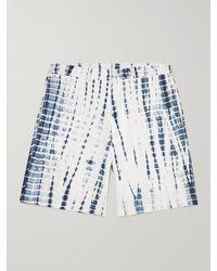 SMR Days Leeward Wide-leg Tie-dyed Cotton Shorts - Blue