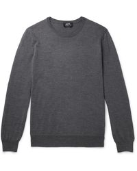 A.P.C. King Merino Wool Jumper - Grey