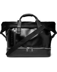 Givenchy - Jaw-textured Coated-canvas And Full-grain Leather Holdall - Lyst
