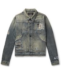 Reese Cooper Distressed Denim Jacket - Multicolour