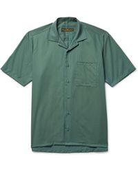 Freemans Sporting Club - Camp-collar Linen Shirt - Lyst
