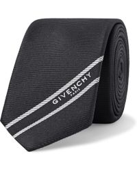 Givenchy - 6.5cm Logo-jacquard Webbing-trimmed Silk-faille Tie - Lyst