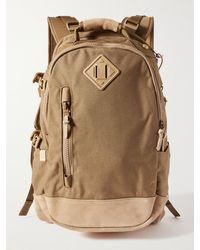 Visvim Suede-trimmed Cordura Backpack - Multicolour