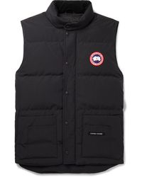 Canada Goose Slim-fit Freestyle Crew Quilted Arctic Tech Down Gilet - Blue