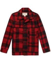 Filson - Checked Virgin Wool Overshirt - Lyst