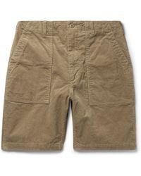 Engineered Garments Cotton-corduroy Shorts - Natural