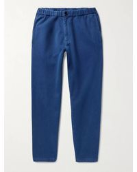 Blue Blue Japan Cotton Tapered Trousers - Blue