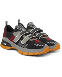 Prada - Trail Rubber-trimmed Mesh Sneakers - Lyst