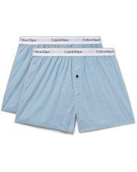 CALVIN KLEIN 205W39NYC - Two-pack Cotton-poplin Boxer Shorts - Lyst