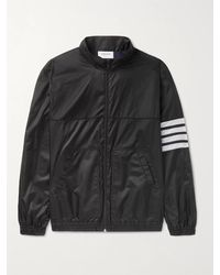 Thom Browne Striped Ripstop Track Jacket - Blue