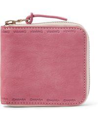 Visvim - Nubuck Zip-around Wallet - Lyst