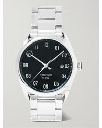 Tom Ford 002 40mm Automatic Stainless Steel Watch - Metallic