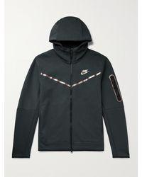 Nike - Sportswear Iridescent Logo-print Tech Fleece Zip-up Hoodie - Lyst