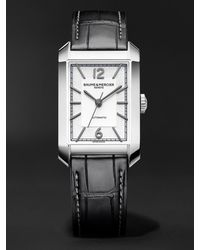 Baume & Mercier Hampton Automatic 27.5mm Stainless Steel And Alligator Watch - Metallic
