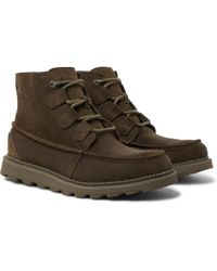 15ede833f7f Sorel Madson Hiker Waterproof Leather And Rubber-trimmed Nubuck ...