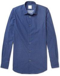 Paul Smith - Soho Slim-fit Cutaway-collar Polka-dot Cotton Shirt - Lyst