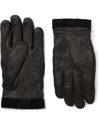 Hestra - Primaloft Fleece-lined Full-grain Leather Gloves - Lyst