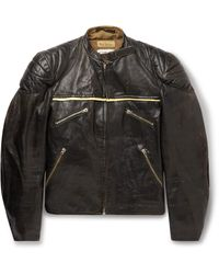 Our Legacy Tt Quilted Leather Jacket - Black