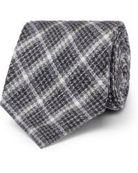 Tom Ford - 8cm Checked Silk And Wool-blend Tie - Lyst