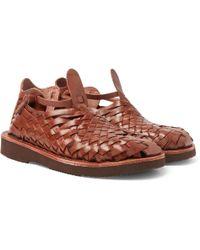 Yuketen - Crus Woven Leather Sandals - Lyst