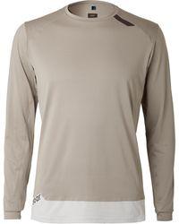 Soar Running Tech-t Contrast-tipped Mesh Running T-shirt - Grey